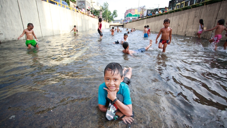 Kids of Habagat flood